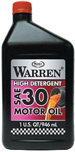 High Detergent SAE 30 Wt API SN Motor Oil